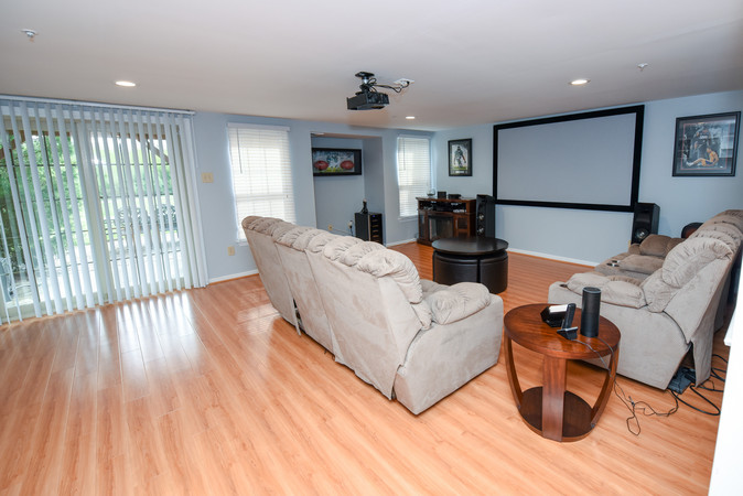 Entertaining area lower level with walk out